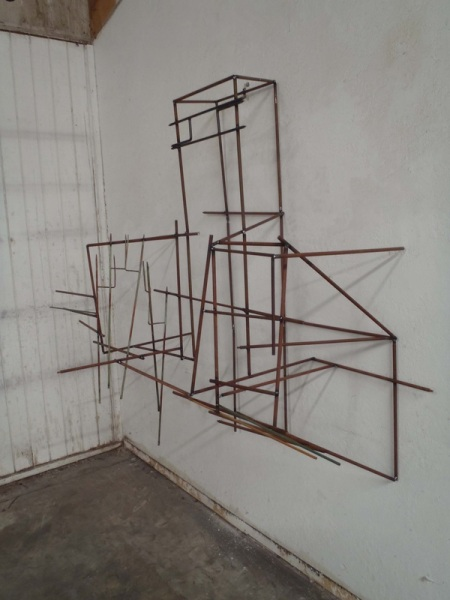 "Linear Deception of Space; 2012; steel; 72""x50""x20"""