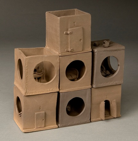 The Neighborhood #2, stoneware, 15 x 15 x 5%22