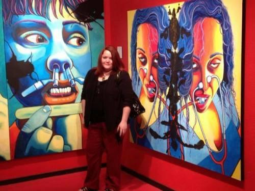 Myself standing next to my work